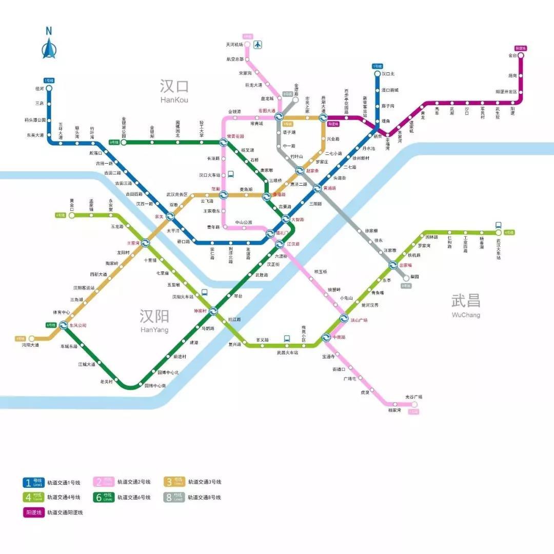 武汉地铁线路图(2017版) 阳逻线(21号线) 阳逻线(21号线)是武汉市